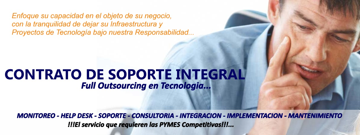 SOPORTE TECNICO EN TECNOLOGIA - OUTSOURCING IT